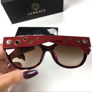 🆕 Versace Sunglasses Havana Subtle CatEye Medusa